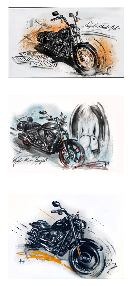HARLEY COLLECTION / Softail Street Bob, Night Rod Spezial,  Fat Boy 30th anniversary
